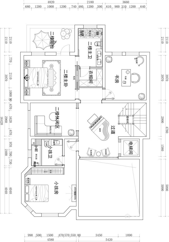 670平欧式别墅,尽享都市奢华-平面设计图及设计说明