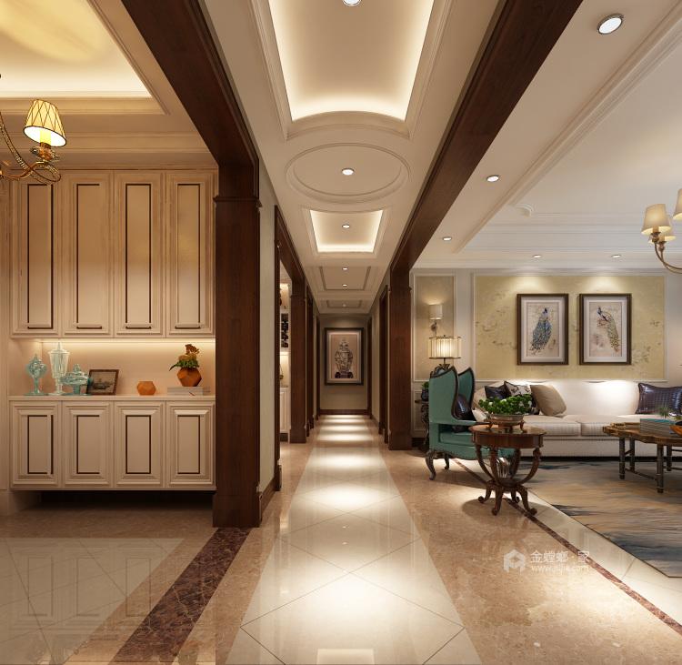 248平美式大平层,为你装饰属于你的美宅-走廊