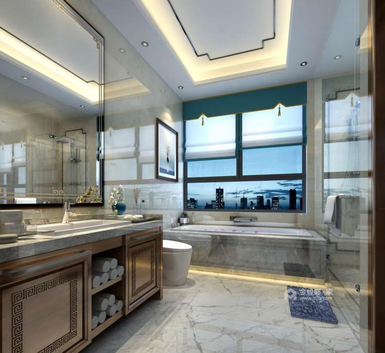 300平新中式别墅,三世同堂其乐融融的家-卫生间