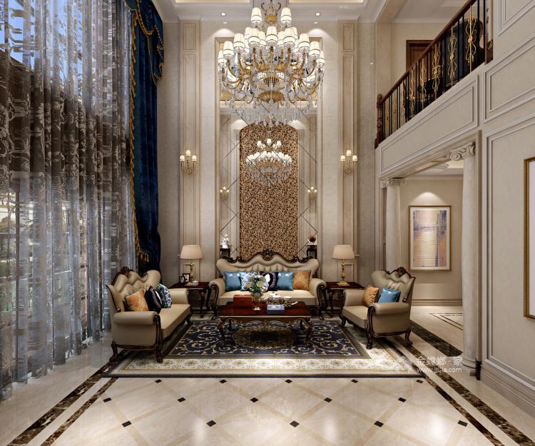 670平欧式别墅,尽享都市奢华-客厅效果图及设计说明