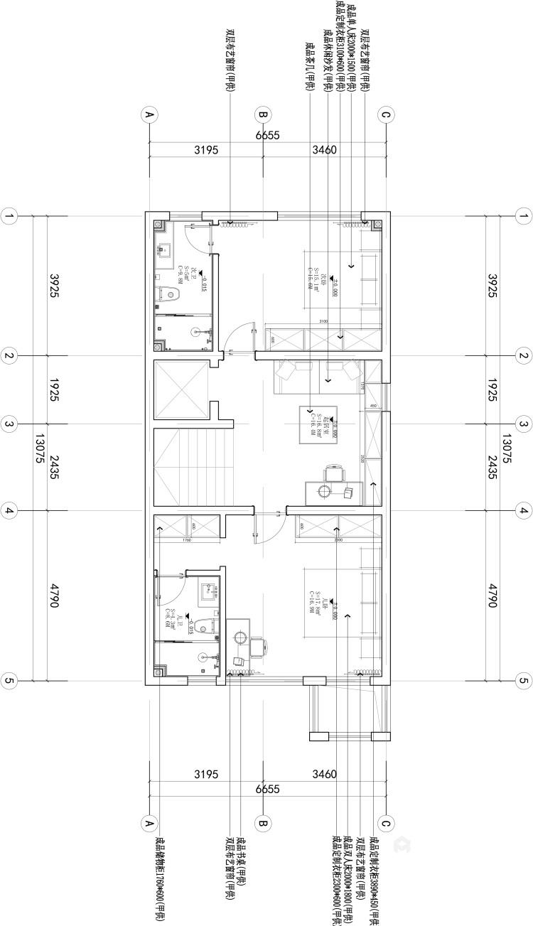 480平北欧风别墅,闹中取静简约风-平面设计图及设计说明
