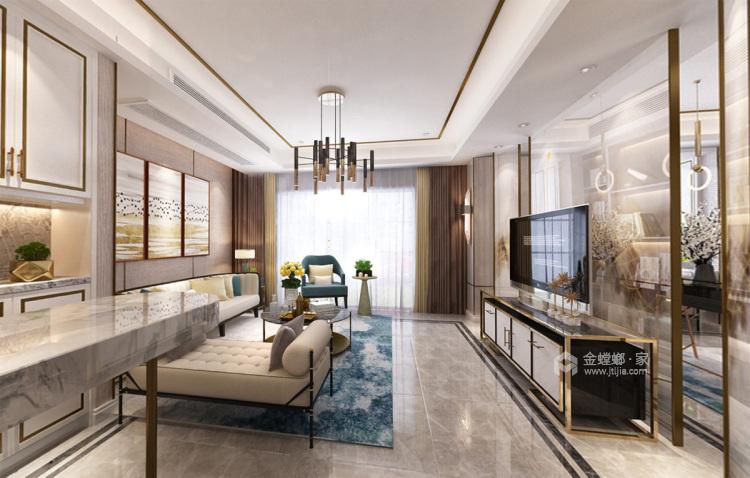 浓墨淡彩现代风,满足你心中对于家的想象-客厅效果图及设计说明