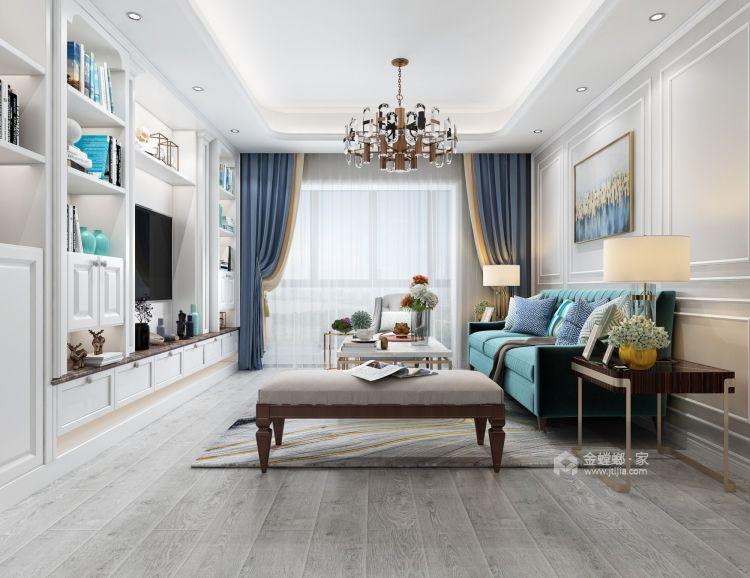 120平现代三居,温馨精致的小屋-客厅效果图及设计说明