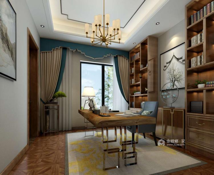 300平新中式别墅,三世同堂其乐融融的家-书房