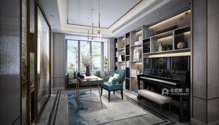 浓墨淡彩现代风,满足你心中对于家的想象-书房