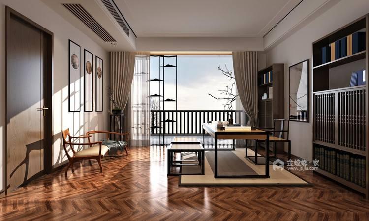 156平中式美宅,复古大方-书房