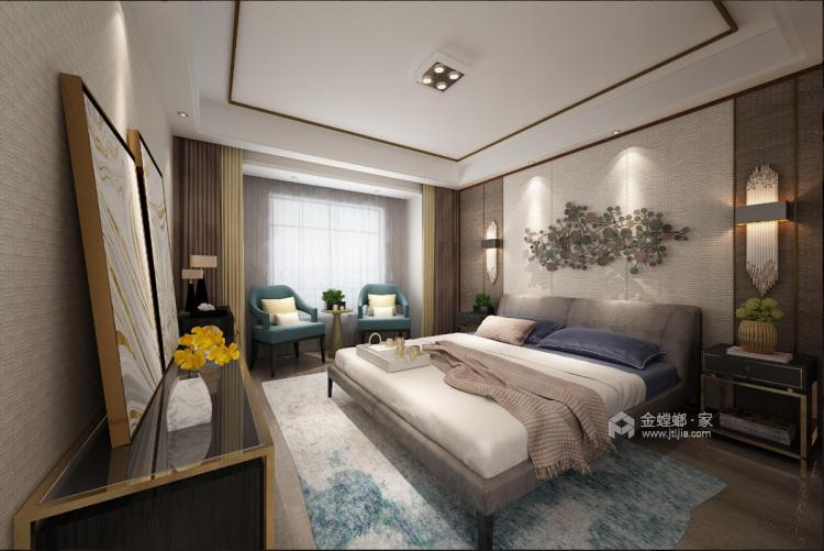 浓墨淡彩现代风,满足你心中对于家的想象-卧室效果图及设计说明