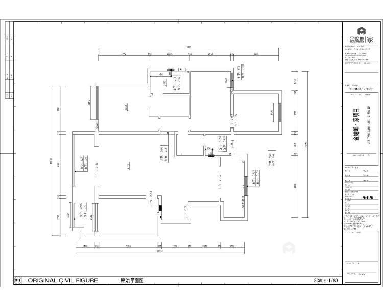 156平中式美宅,复古大方-业主需求&原始结构图