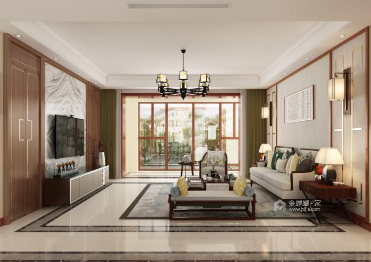156平中式美宅,复古大方-空间效果图