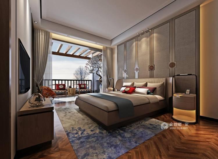 156平中式美宅,复古大方-卧室效果图及设计说明