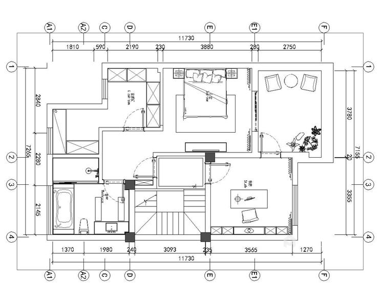 300平新中式别墅,三世同堂其乐融融的家-平面设计图及设计说明