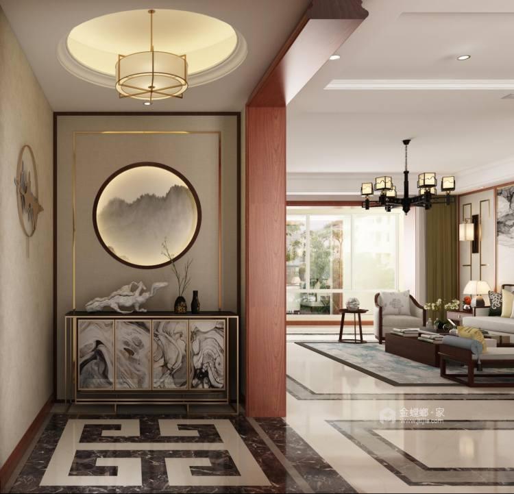 156平中式美宅,复古大方-客厅效果图及设计说明