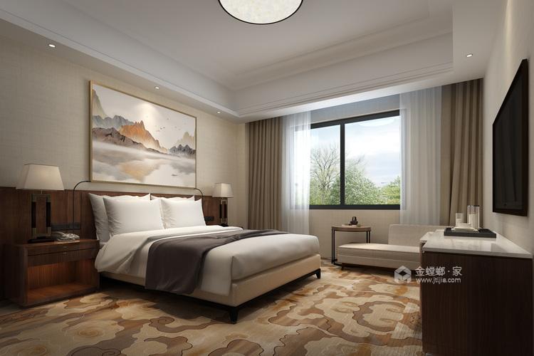 142平大三居,教你这样装修新中式-卧室效果图及设计说明