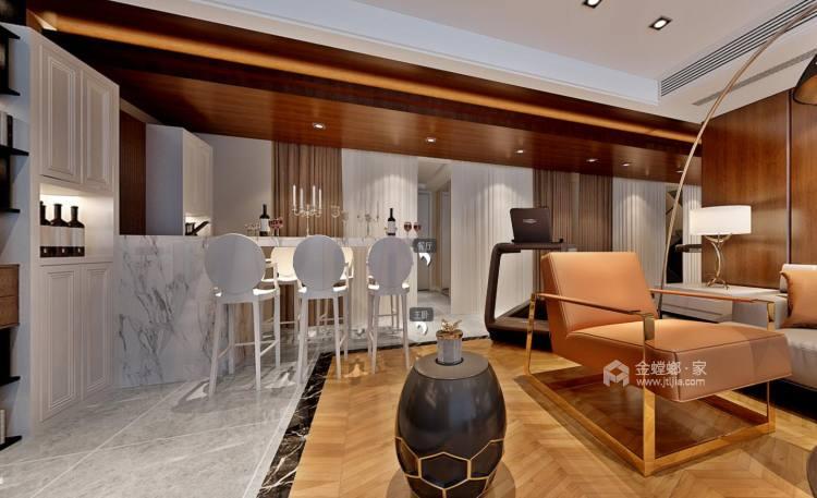 333平复式别墅,浓浓的现代风情-客厅效果图及设计说明
