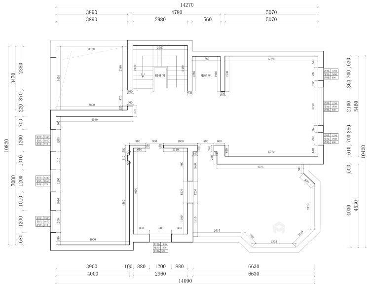 670平欧式别墅,尽享都市奢华-业主需求&原始结构图