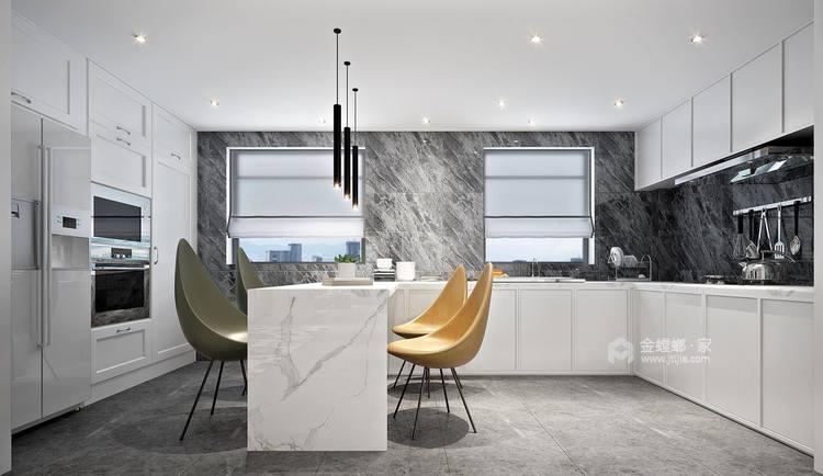 333平复式别墅,浓浓的现代风情-餐厅效果图及设计说明