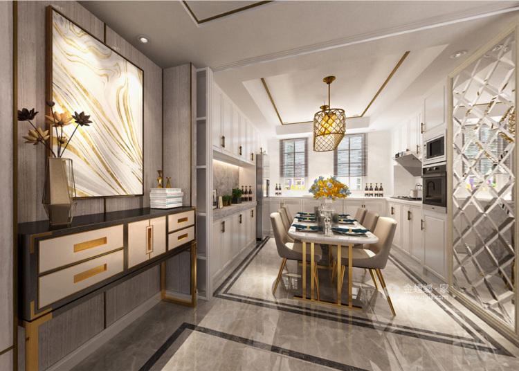 浓墨淡彩现代风,满足你心中对于家的想象-餐厅效果图及设计说明