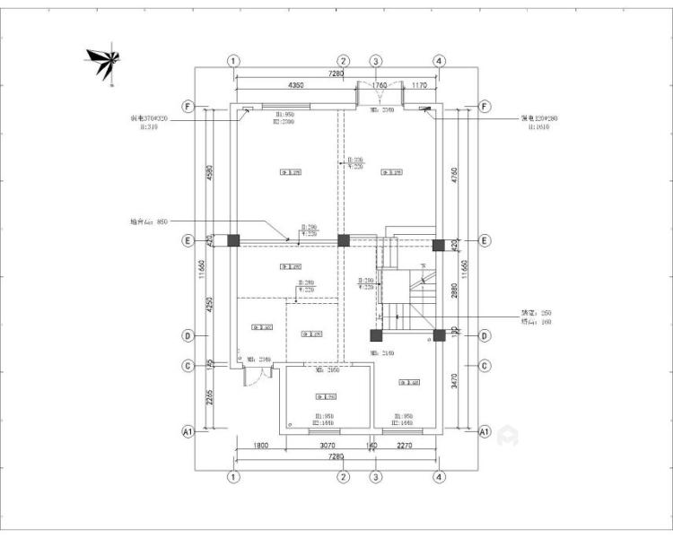 300平新中式别墅,三世同堂其乐融融的家-业主需求&原始结构图