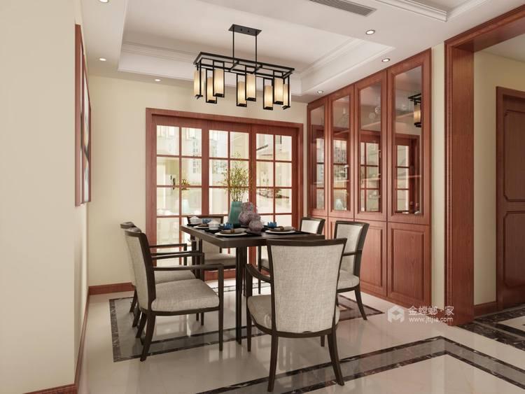 156平中式美宅,复古大方-餐厅效果图及设计说明
