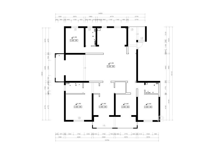 三世同堂大平层,尽享天伦之乐-业主需求&原始结构图