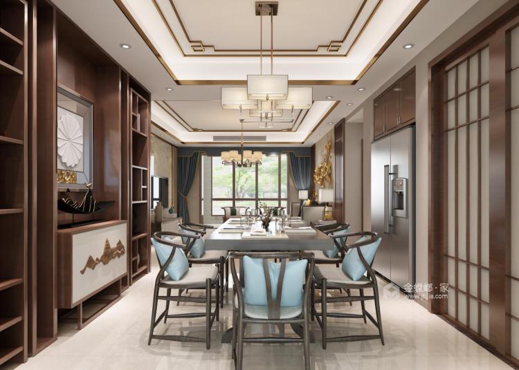 140平新中式,你就该这么装-餐厅效果图及设计说明