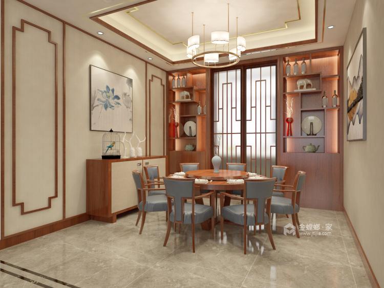 这样美的新中式,什么标题都配不上你!-餐厅效果图及设计说明