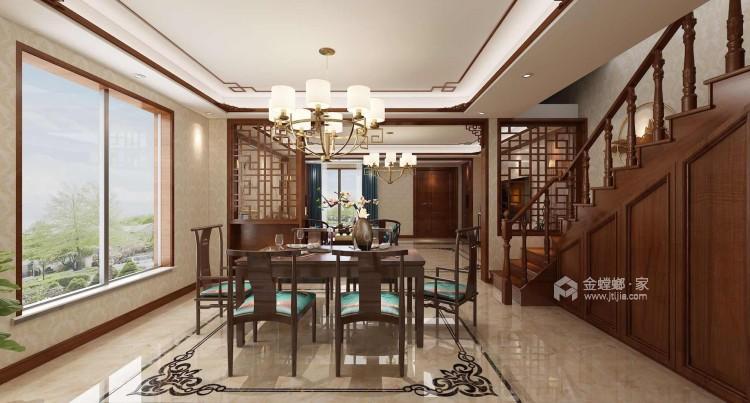 220平新中式别墅,优雅而又大气-餐厅效果图及设计说明