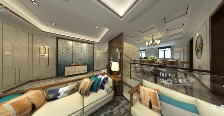 300平新中式别墅,三世同堂其乐融融的家-餐厅效果图及设计说明