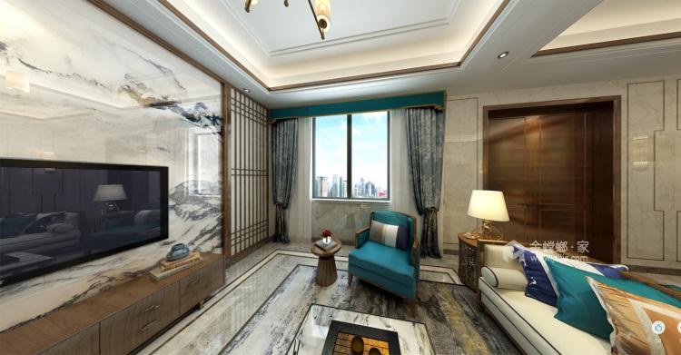 300平新中式别墅,三世同堂其乐融融的家-客厅效果图及设计说明