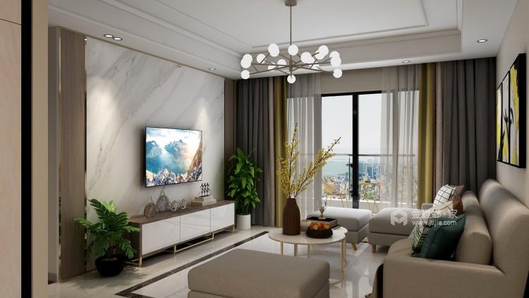 三居北欧风,父母就喜欢这样简约的风格-客厅效果图及设计说明