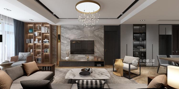 现代+高级灰+轻奢 最理想的家就是这样-客厅效果图及设计说明