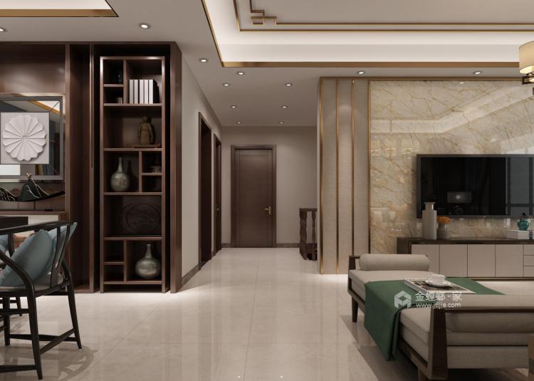 140平新中式,你就该这么装-客厅效果图及设计说明
