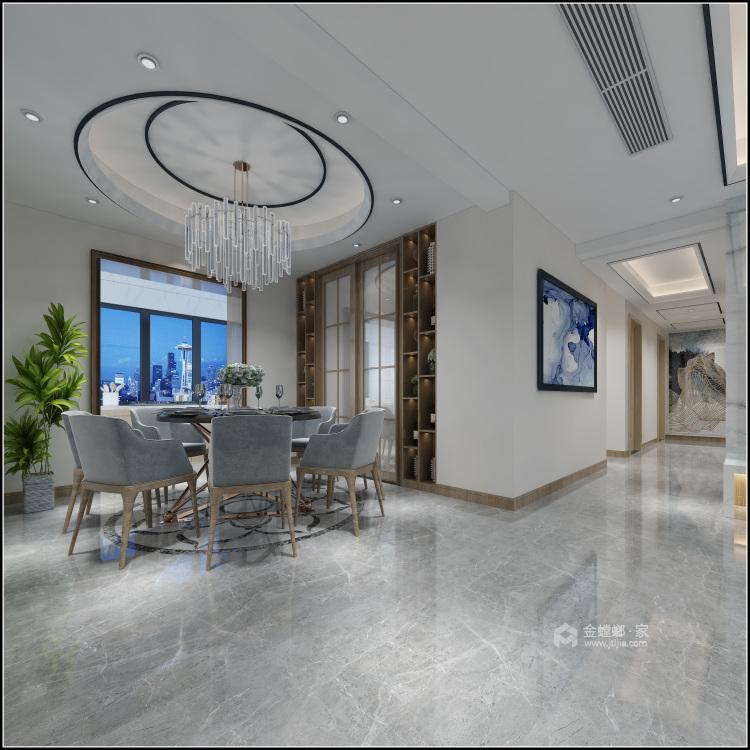 153平美宅,简约的现代美学-餐厅效果图及设计说明