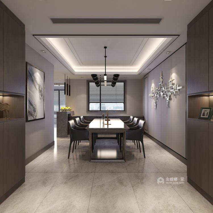 230平4居室 现代时尚前卫 深色木饰面体现温馨感-空间效果图