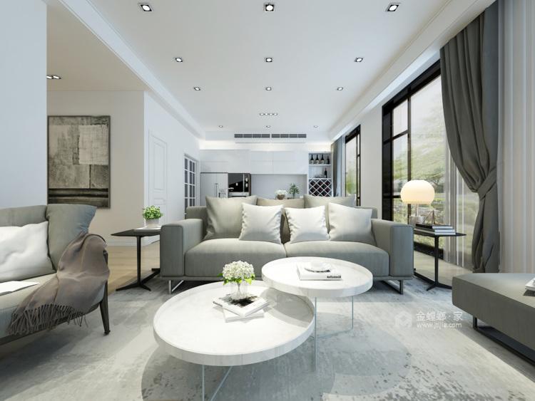 现代简约,享受生活带来的美好-客厅效果图及设计说明