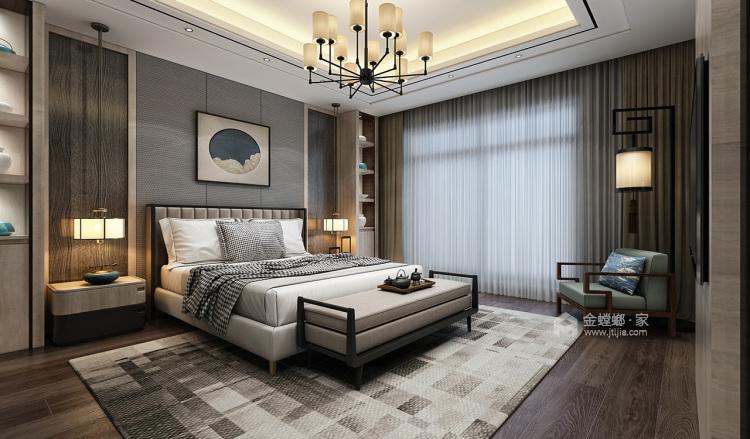 230平新中式复式大宅-卧室效果图及设计说明