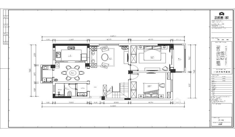 230平新中式复式大宅-平面设计图及设计说明