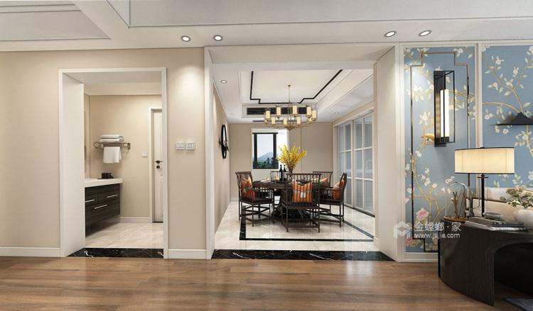 230平新中式复式大宅-餐厅效果图及设计说明