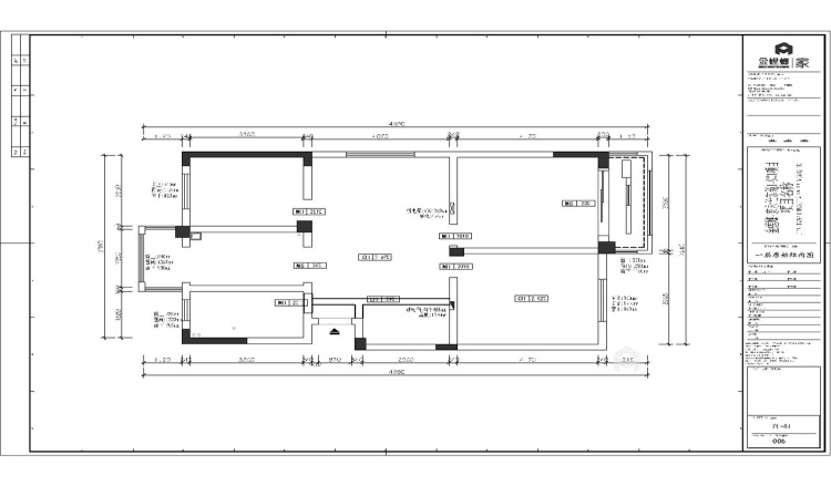 230平新中式复式大宅-业主需求&原始结构图