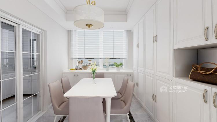 白色系欧式风格,我是心动了!-餐厅效果图及设计说明