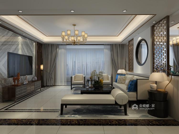 荣盛观邸177平米新中式装修设计图