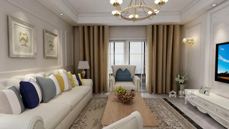 白色系欧式风格,我是心动了!-客厅效果图及设计说明