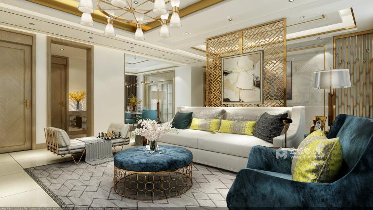 可以开party超舒适的现代风格!-客厅效果图及设计说明