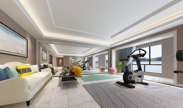 300㎡欧式别墅,低调中的奢华-客厅效果图及设计说明