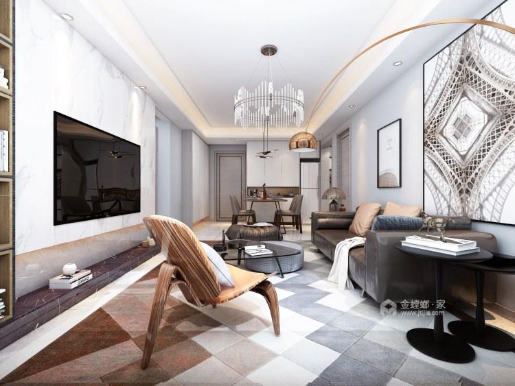 业内人士的家充分展现收纳实力-客厅效果图及设计说明