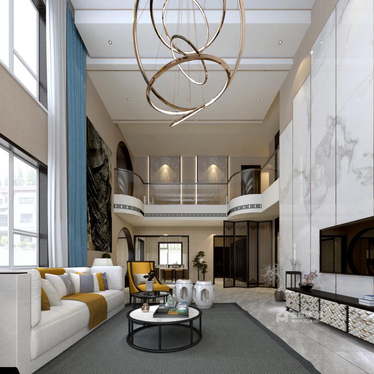 青年企业家的芝兰之室-客厅效果图及设计说明
