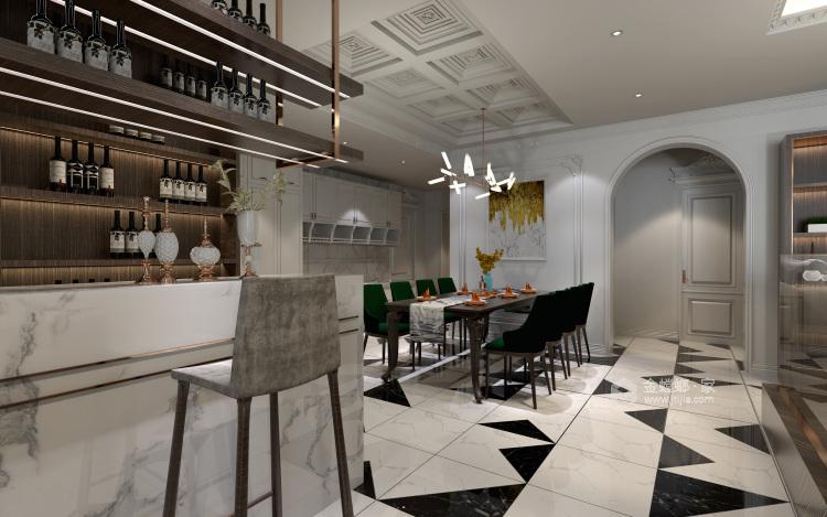白色复古欧式,做维多利亚时代的公主-餐厅效果图及设计说明