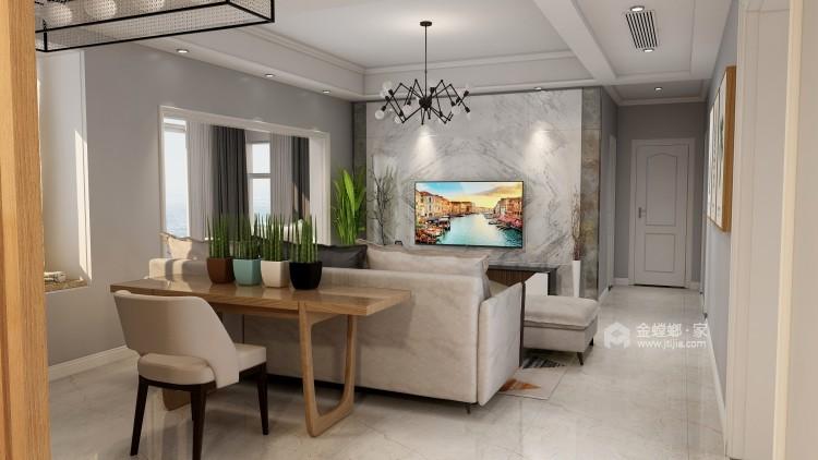 现代简约设计将131²的空间最大化-客厅效果图及设计说明