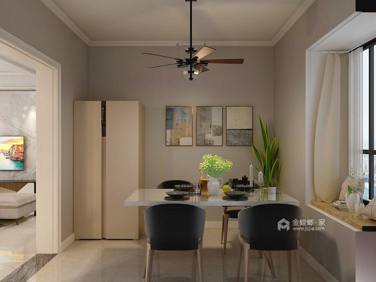 现代简约设计将131²的空间最大化-餐厅效果图及设计说明