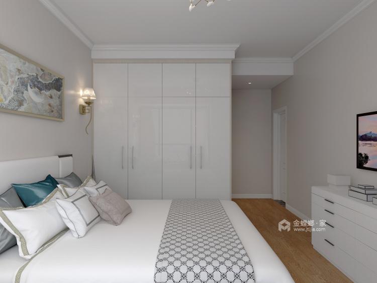 现代简约设计将131²的空间最大化-卧室效果图及设计说明